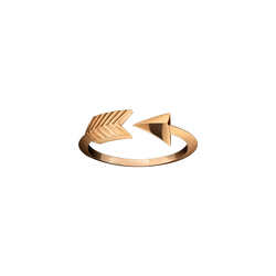 A Cupid's arrow ring in 18 karat rose gold by Solange Azagury-Partridge