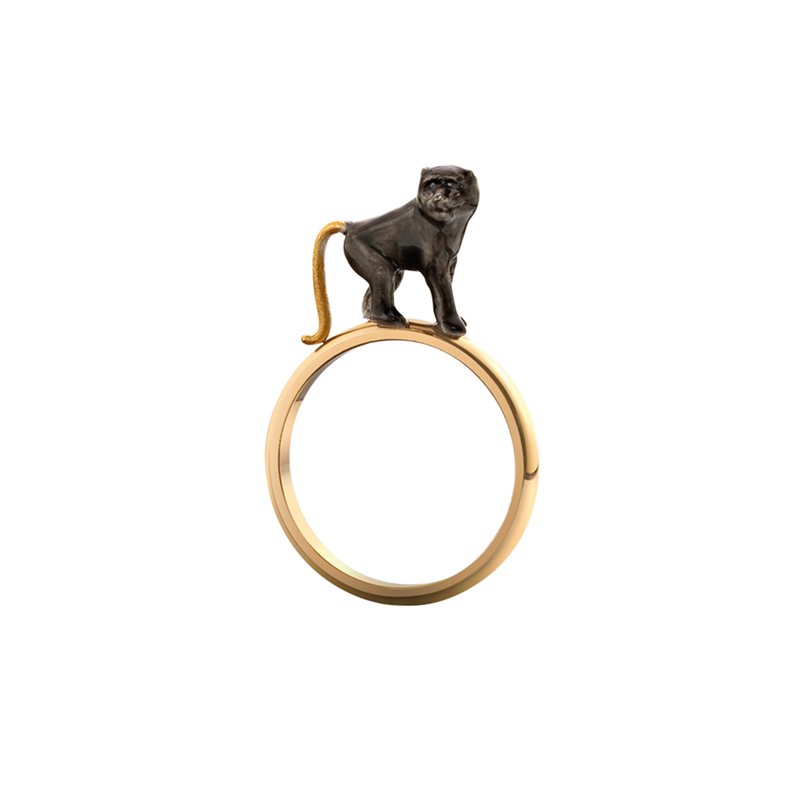 Chinese Zodiac Monkey Ring