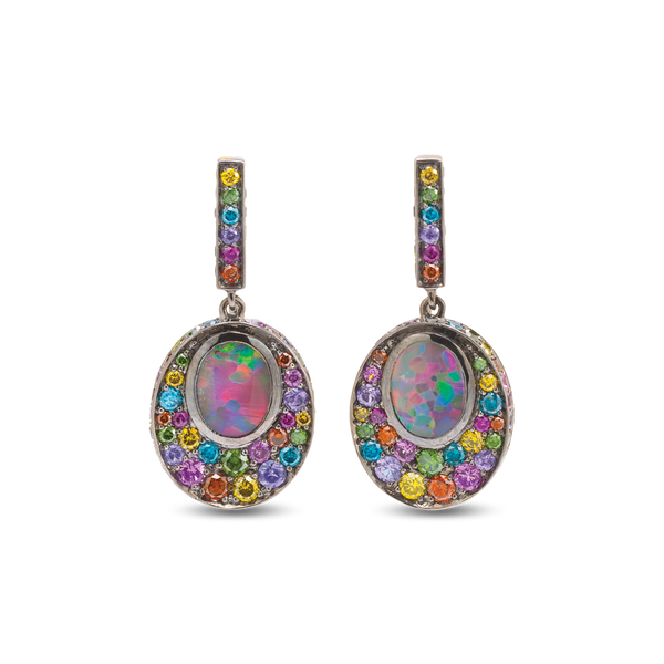 Opal Fruit White Opal Earrings