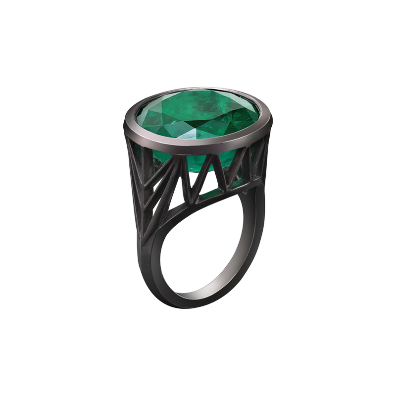 Rock Emerald Ring