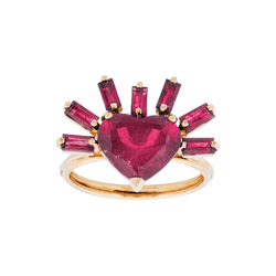 On Fire Ruby Ring