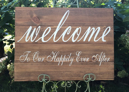 Personalized Wedding Welcome Sign- Large