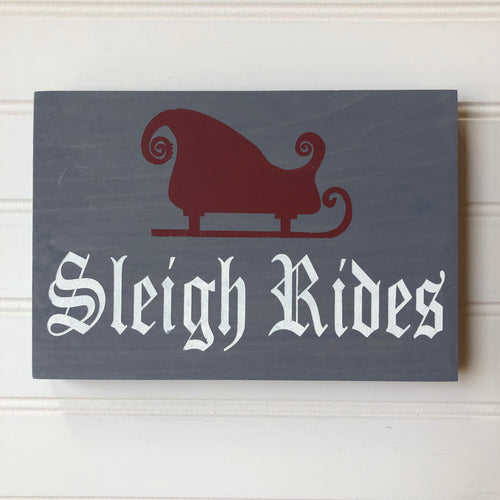 Sleigh Rides Table Sign