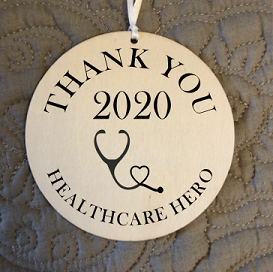 Engraved Wood Ornament / Thank You Healthcare Hero