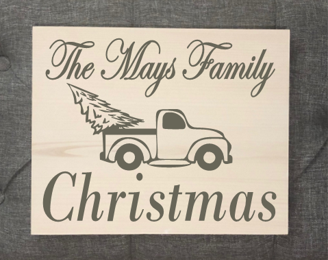 Personalized Family Christmas Sign