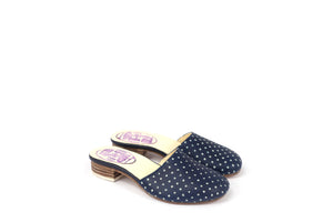 INDIGO BLUEPRINT SLIPPERS DOTS