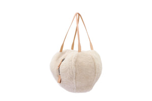 HELMET BAG M CURLY NATURAL