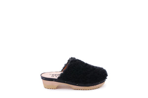 PANTOFFLE CURLY BLACK