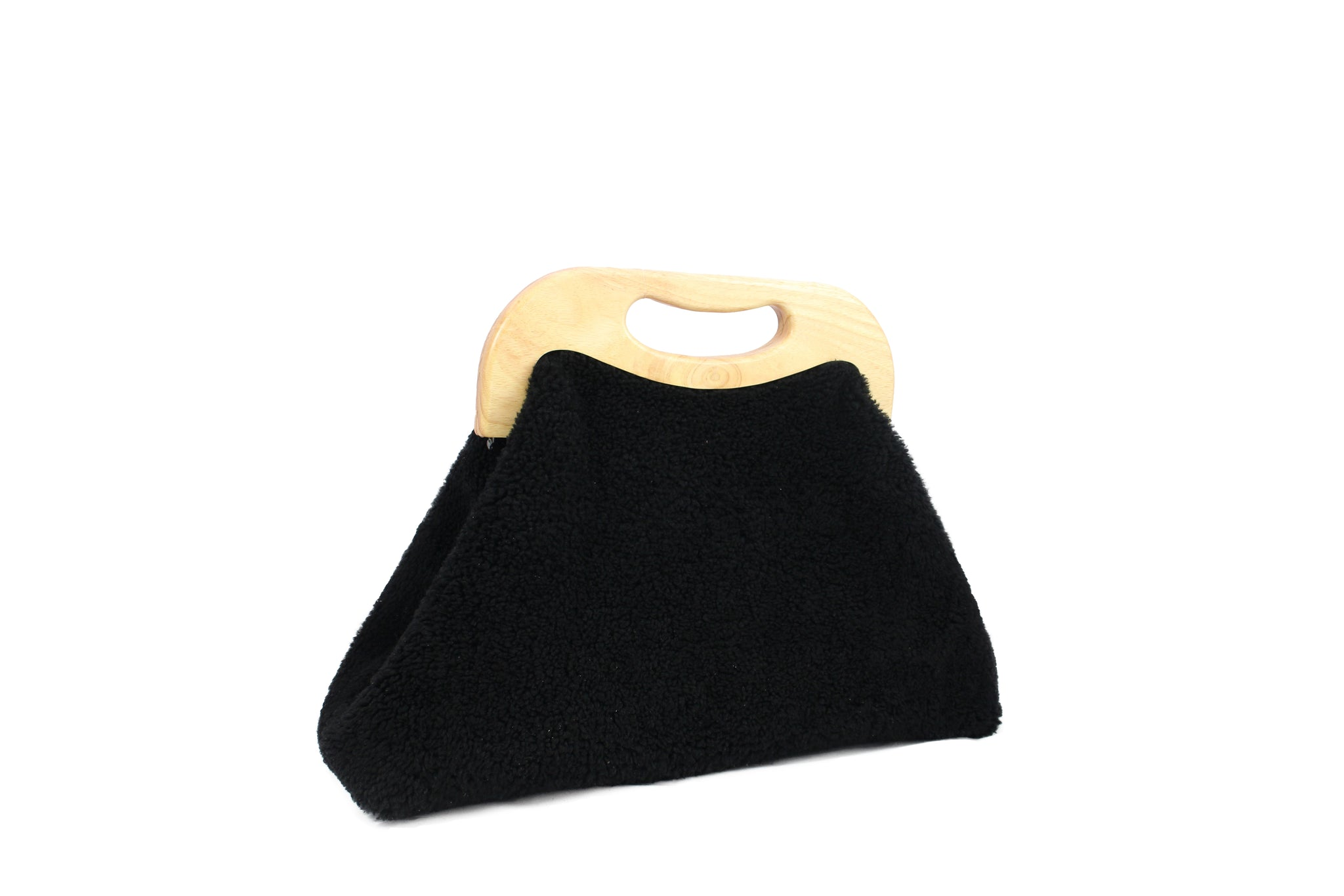 ANGOLO BAG curly black