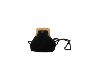 ANGOLO BAG SMALL CURLY BLACK