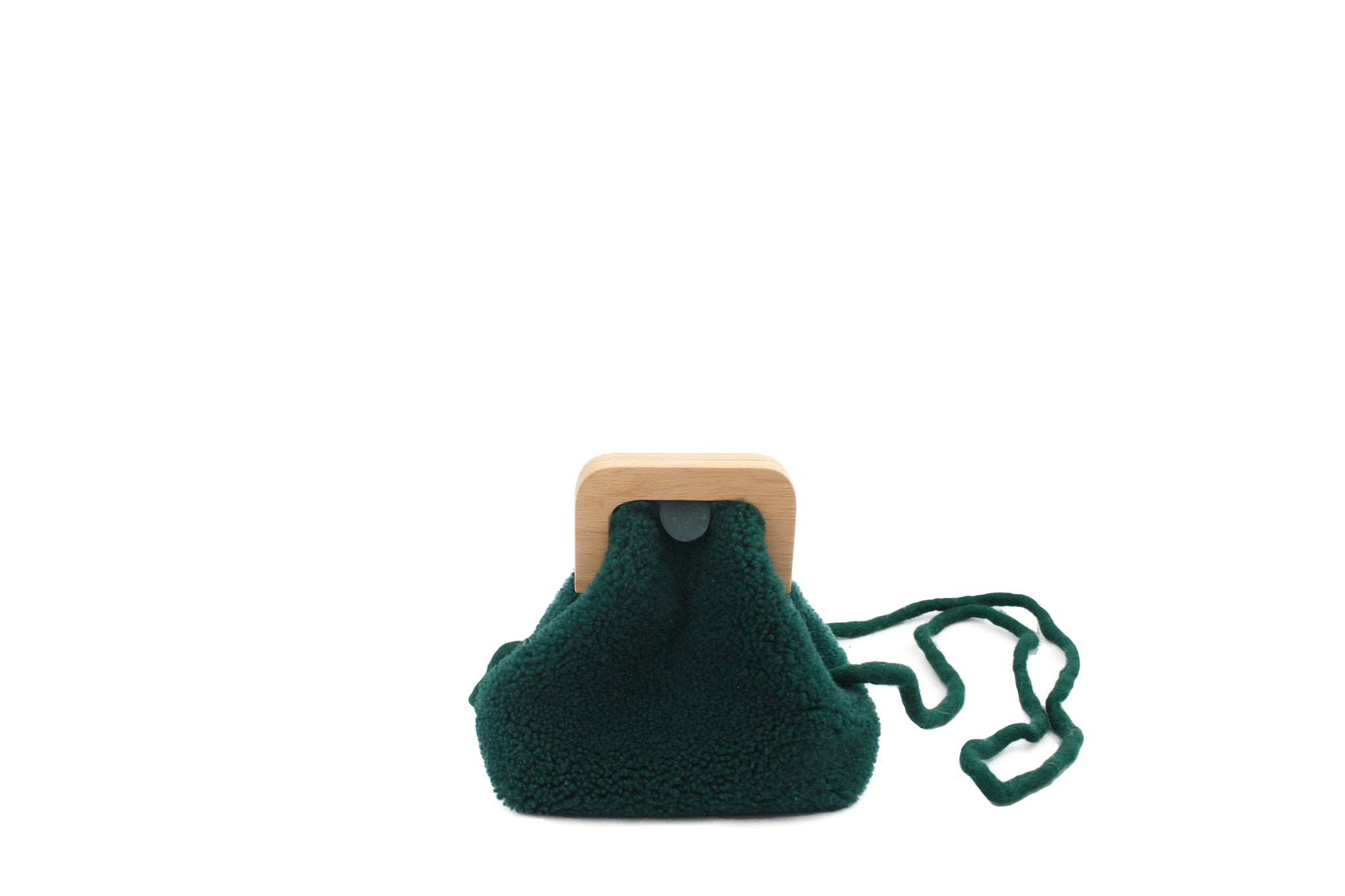 ANGOLO BAG SMALL CURLY EMERALD