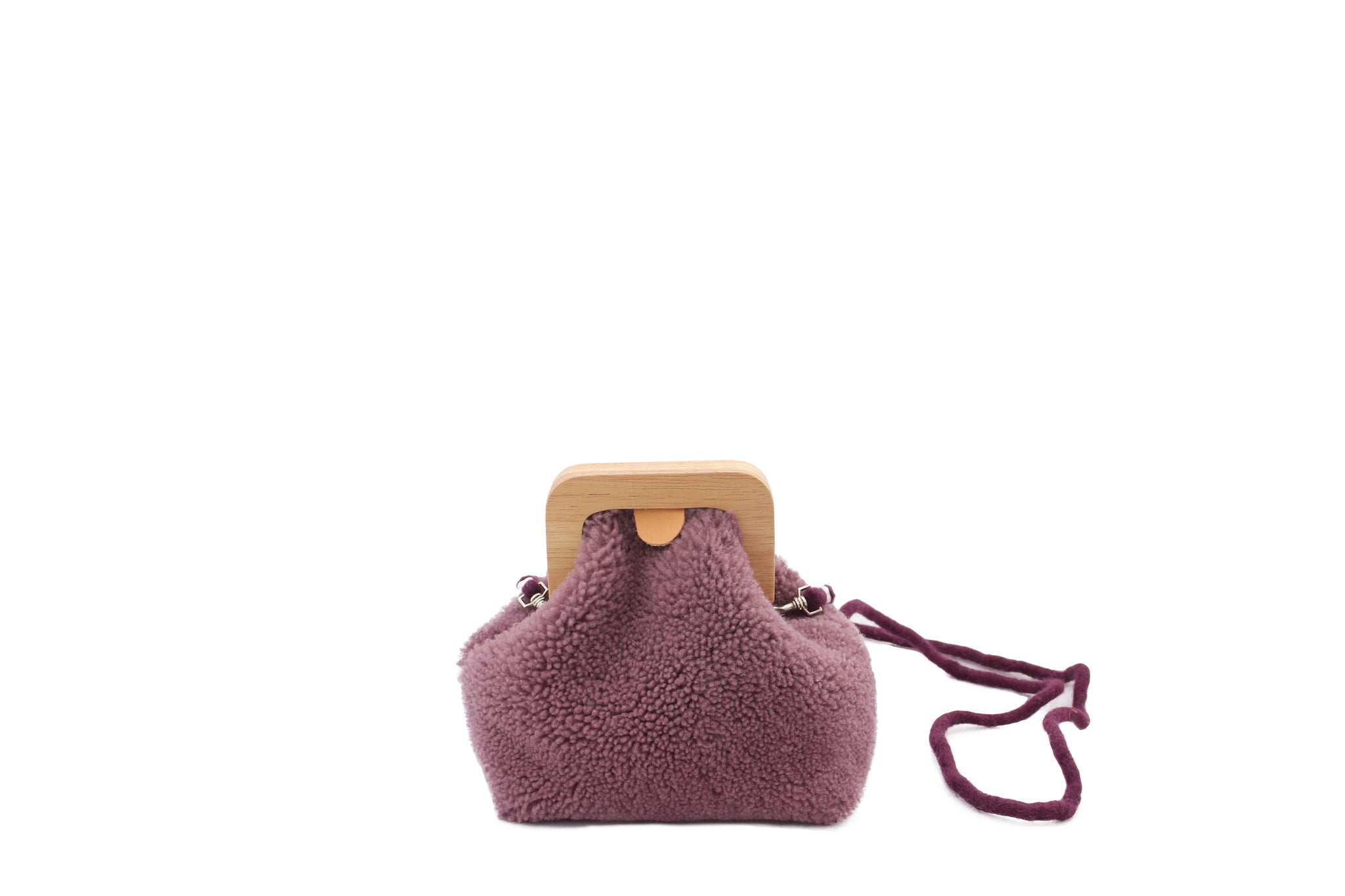 ANGOLO BAG SMALL CURLY MAUVE