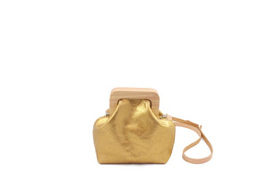 ANGOLO BAG SMALL METALLIC GOLD
