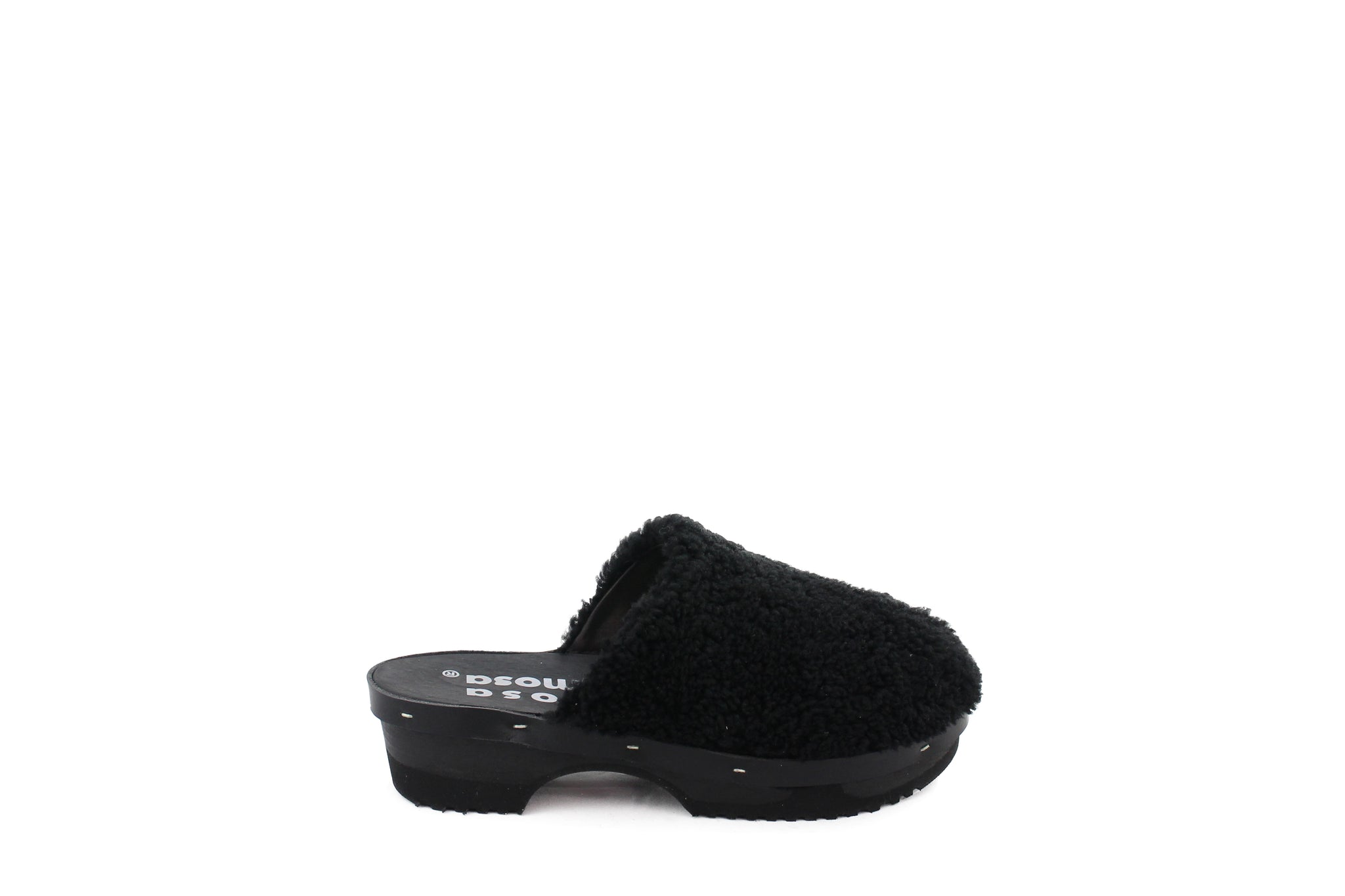 PANTOFFLE CURLY ALL BLACK