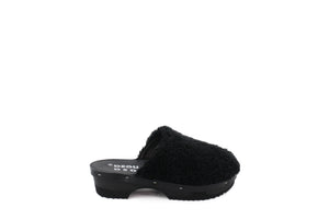 PANTOFFLE CURLY SPECIAL ALL BLACK
