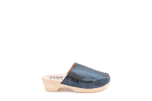 DONAU CLOG METALLIC SIMPLE BLU INGLESE