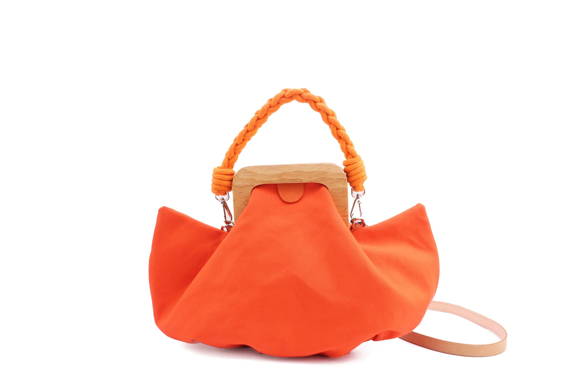 HALF MOON BAG canvas orange