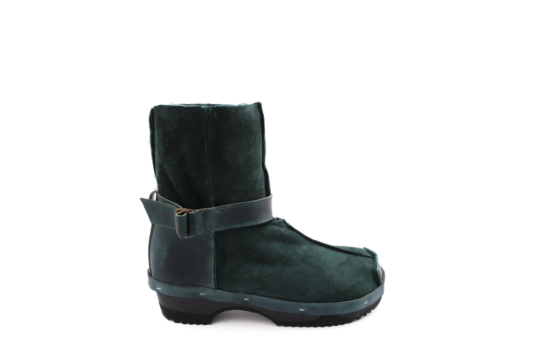 OLGA BOOTS emerald strap black sole