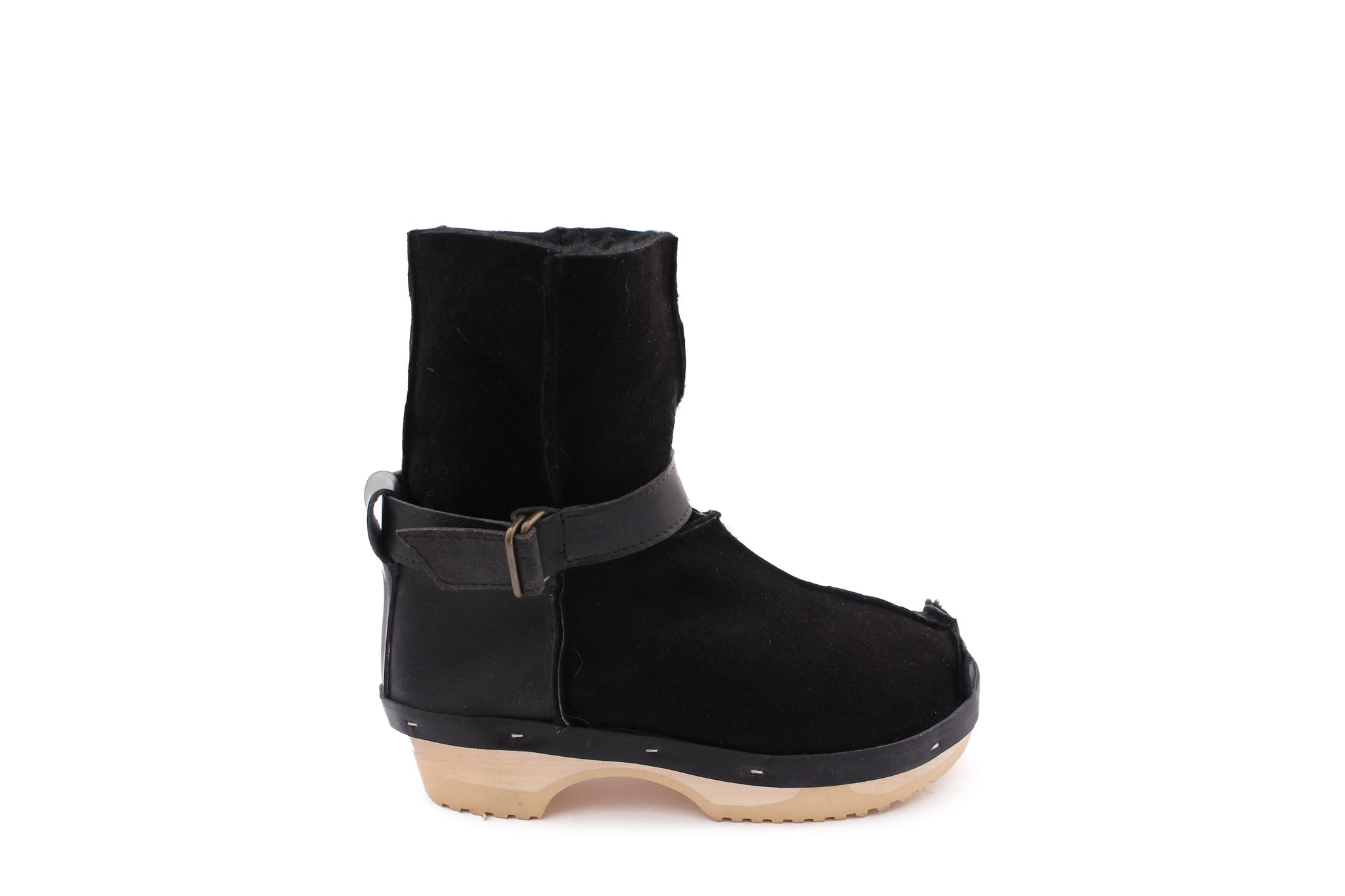 OLGA BOOTS black strap natural sole