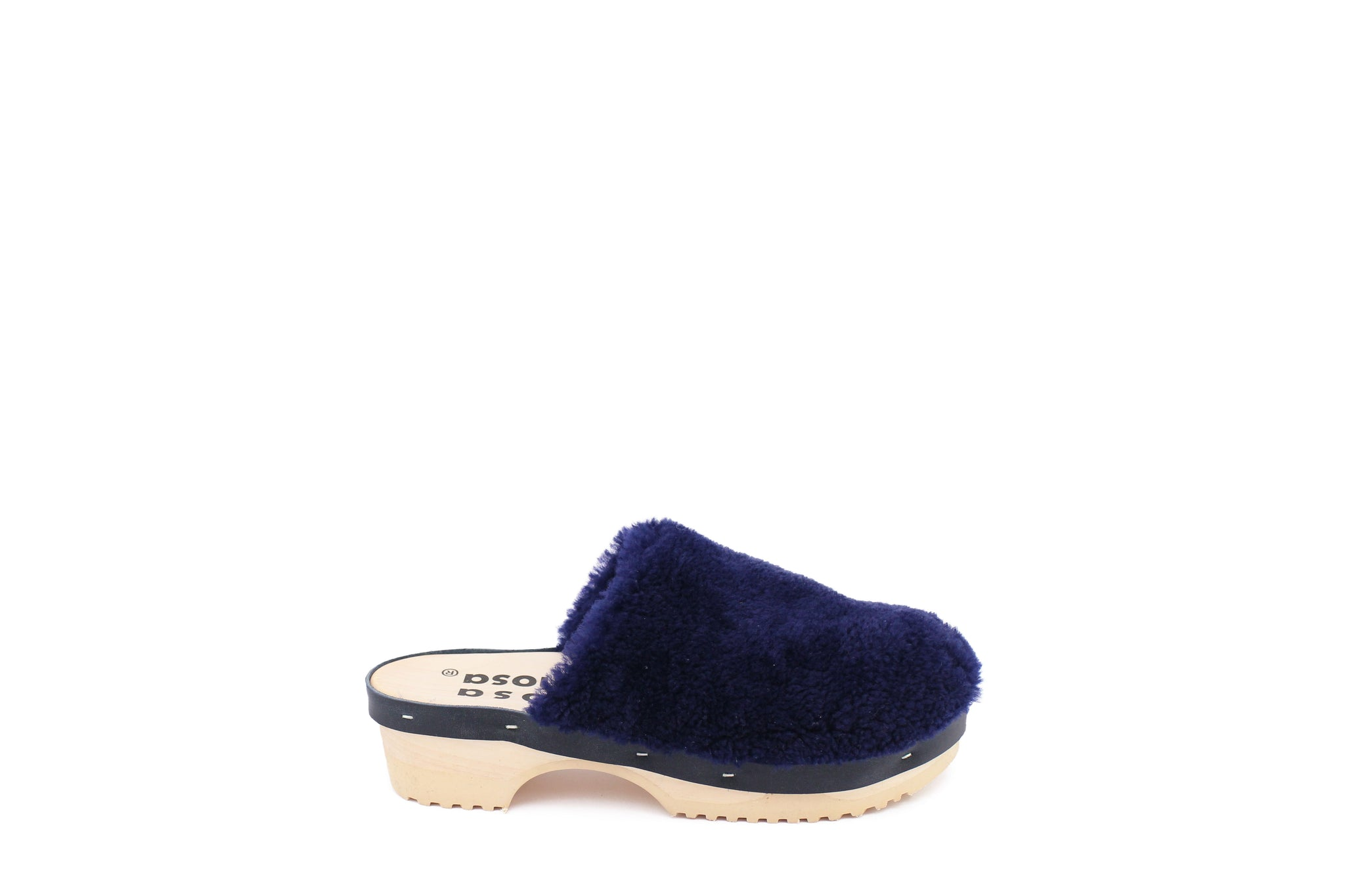 PANTOFFLE CURLY NAVY
