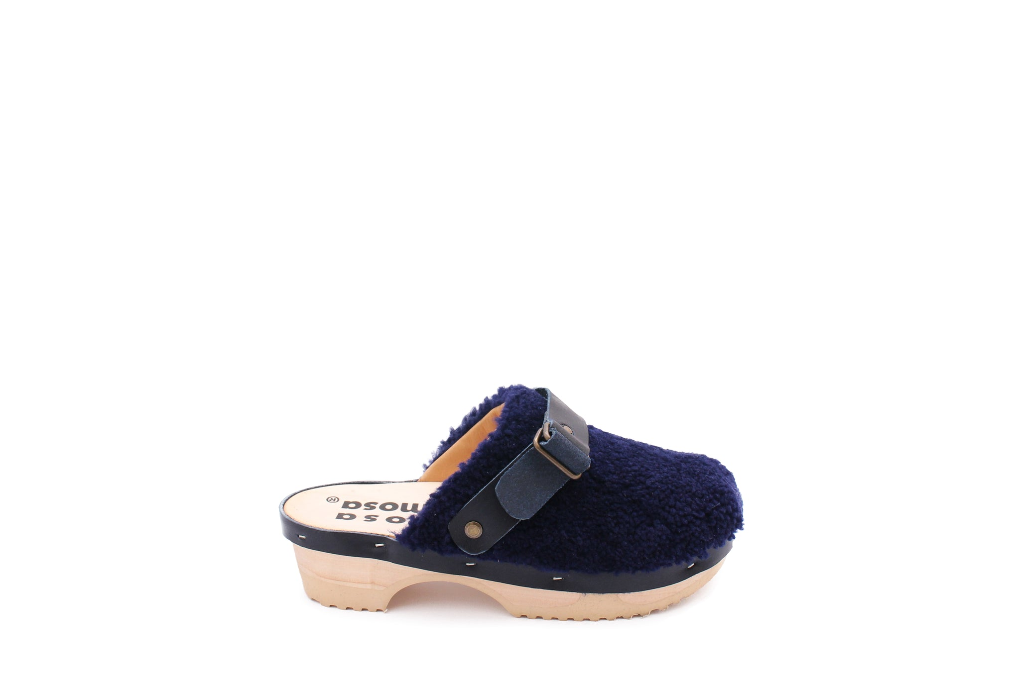 PANTOFFLE CURLY STRAP NAVY