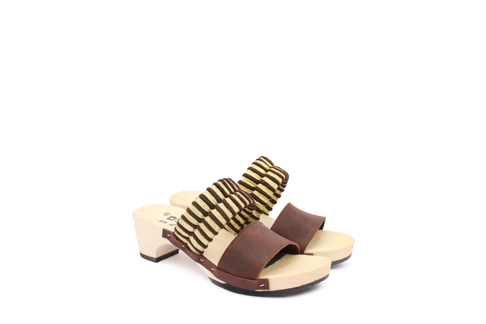 MAGO SANDALS COFFEE GOLD