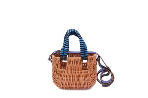 BASKET BAG METALLIC COBALTO/NERO