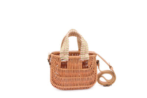BASKET BAG METALLIC COPPER/ROSE