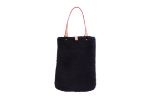 TOTE BAG CURLY BLACK
