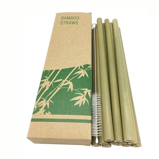 12 pack of Bamboo reusable Straws