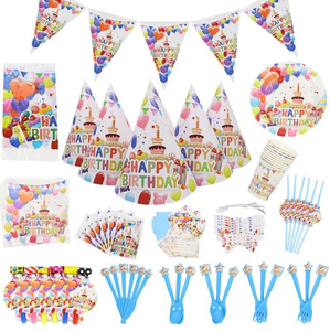 Cupcake & Balloon Birthday Party Supplies
