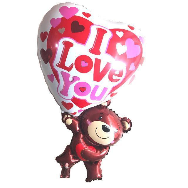Teddy Bear I Love You Balloon