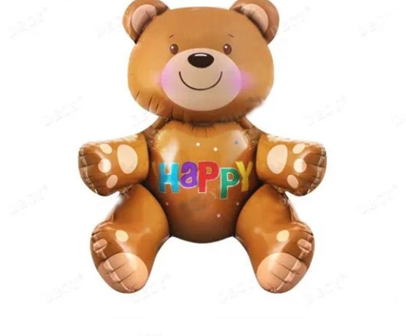 Large 3D Happy Birthday Bear