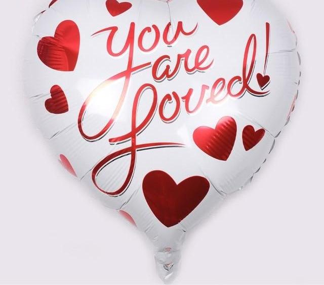 """You Are Loved"" Valentines Day Balloon"