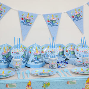 Boys Cupcake 1st Birthday Party Supplies