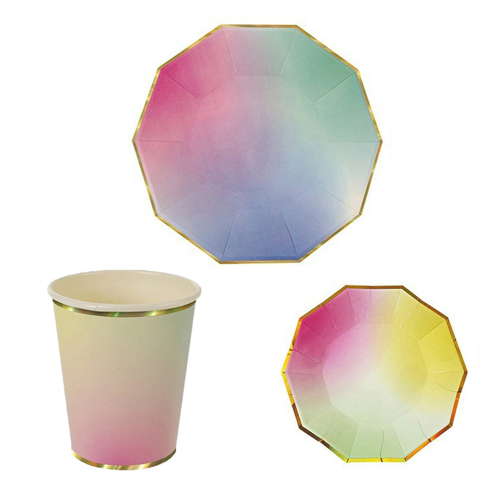 Colorful Dye Disposable Tableware