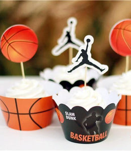 Basketball Cupcake Toppers & Wrappers