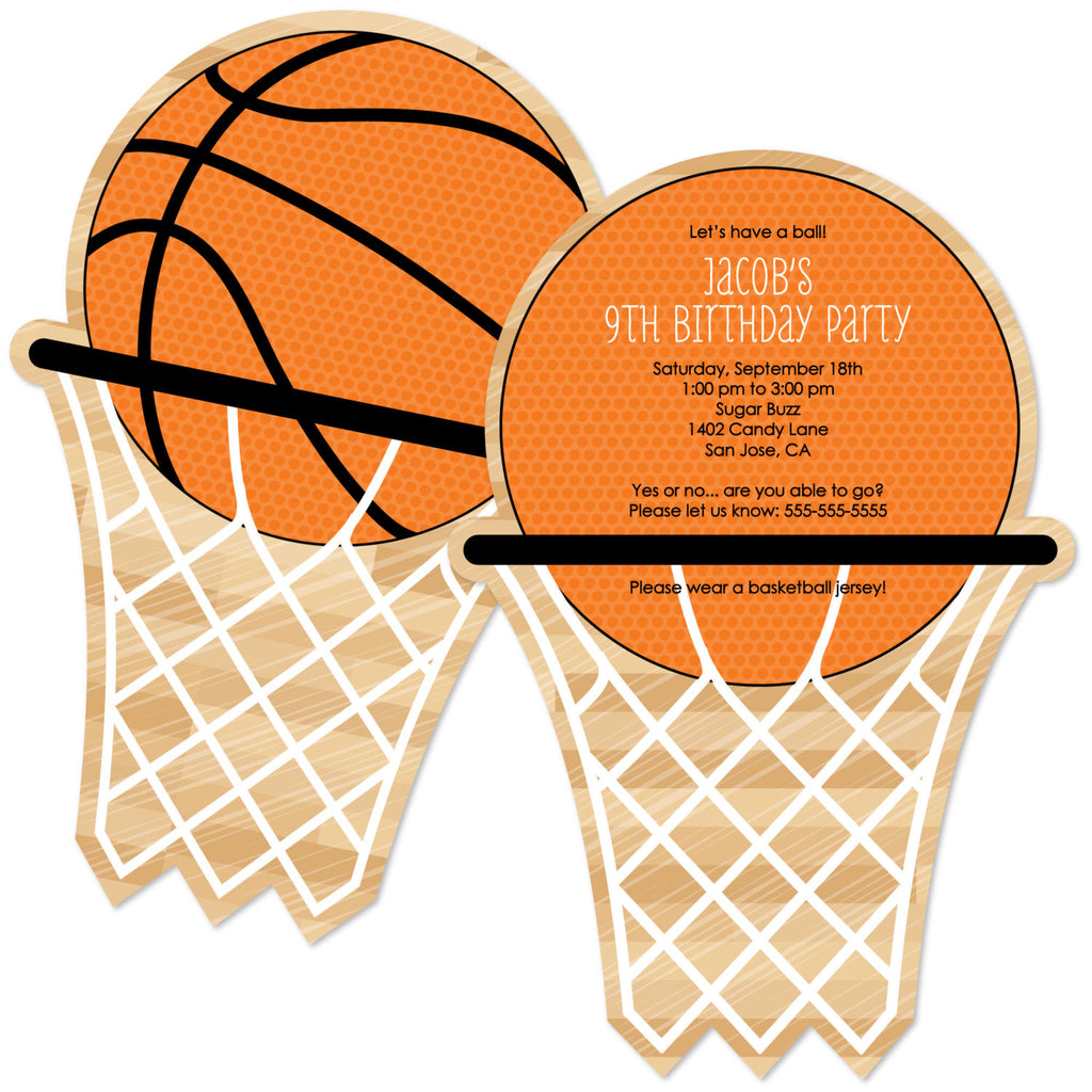Basketball Theme Invitation Card