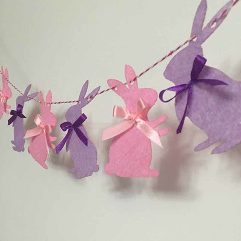 Pink & Purple Bunny Banner