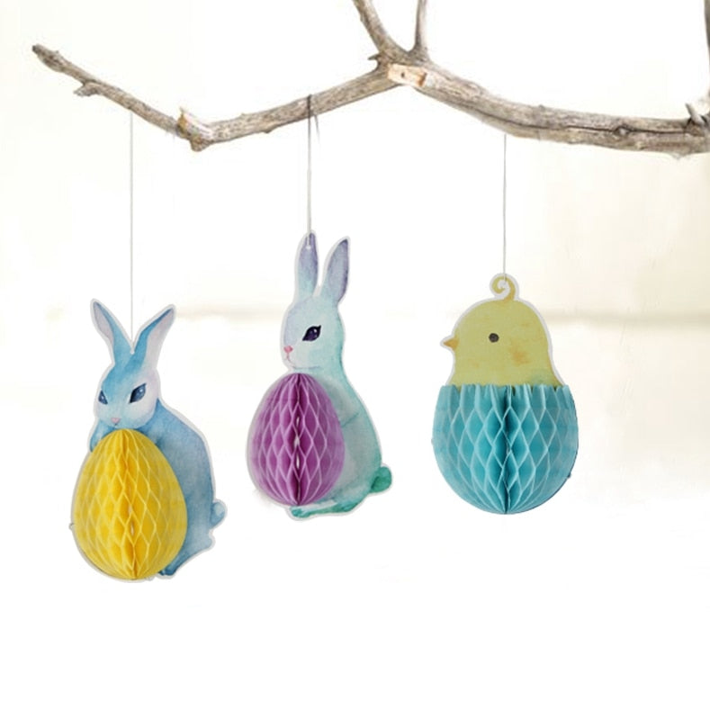 Easter Honeycomb Hanging Decorations
