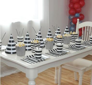 Black Striped Birthday Party Supplies