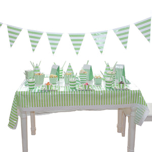 Green Striped Birthday Party Supplies