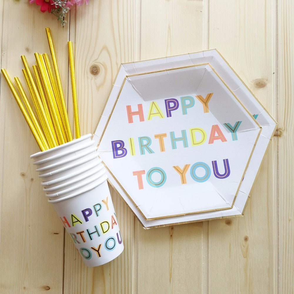 Colorful Happy Birthday Party Supplies