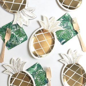 Tropical Pineapple Paper Plate