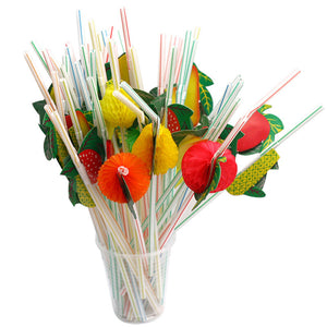 Fruit Cocktail Straws