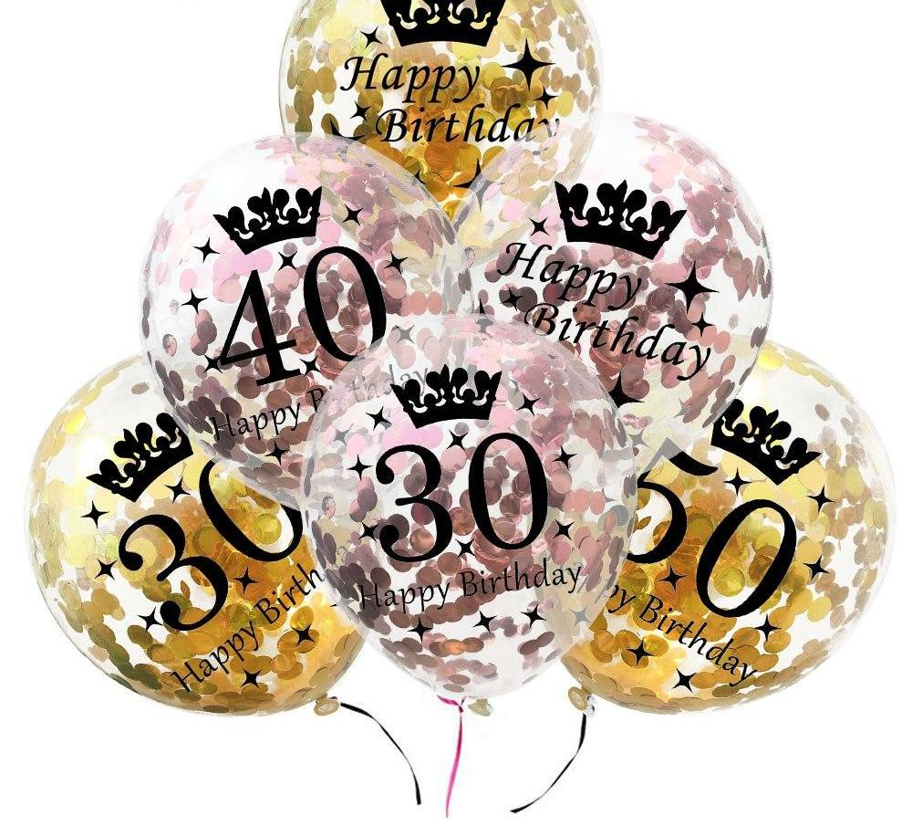 Adult Happy Birthday Confetti Balloons