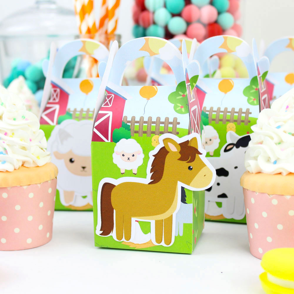 Farm Animal Candy Boxes