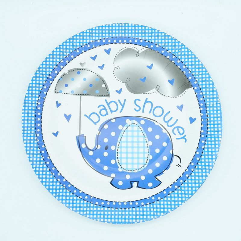 Elephant Baby Shower Paper Plates
