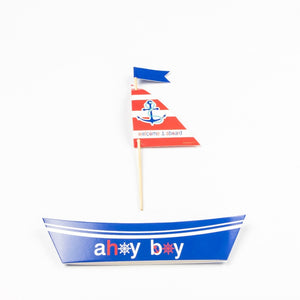 20 Sailboat Cake Toppers