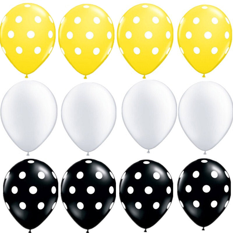 Black & Yellow Theme Balloons
